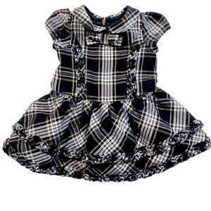 The Children's Place Black & gold Plaid Tutu Dress